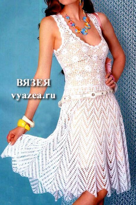 Метки платье для девочки, платье крючком. нарядное платье, связано крючком из нежной пряжи в
